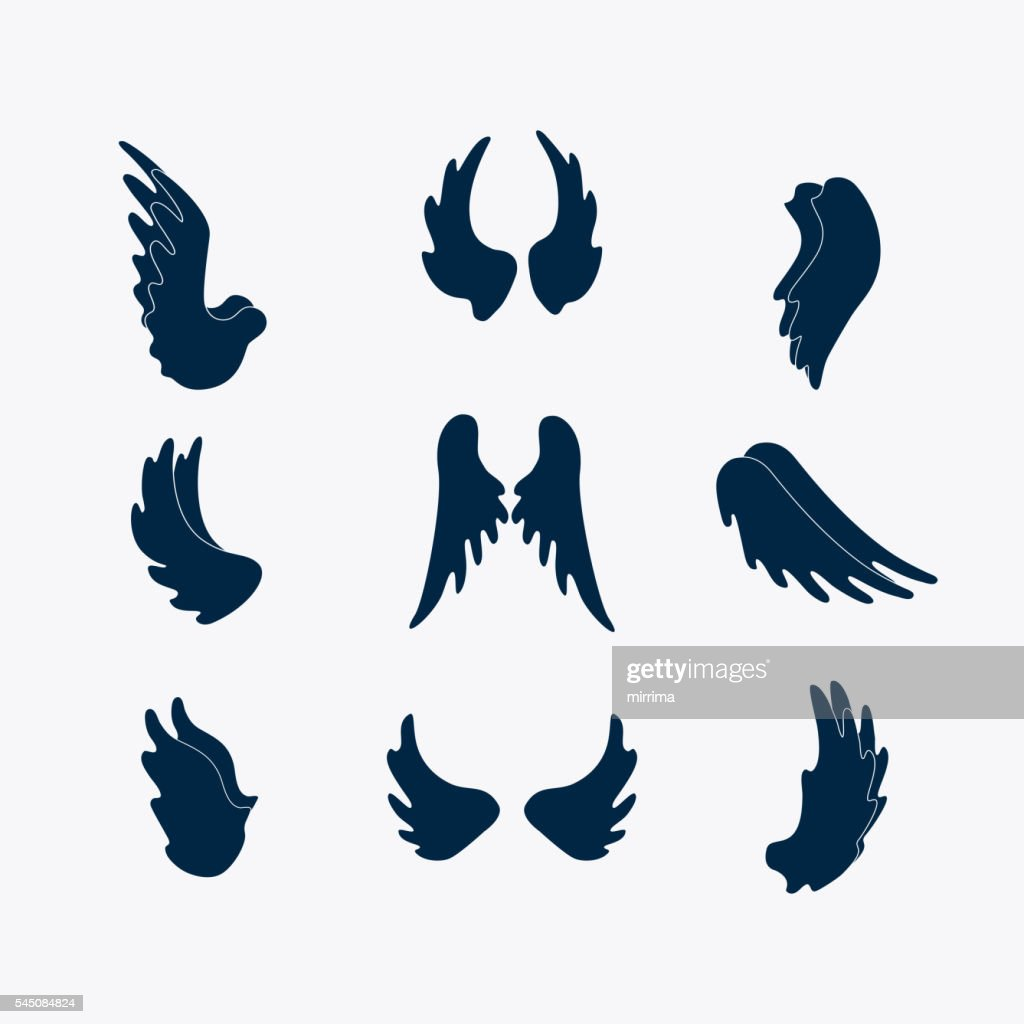 Simple wings silhouettes