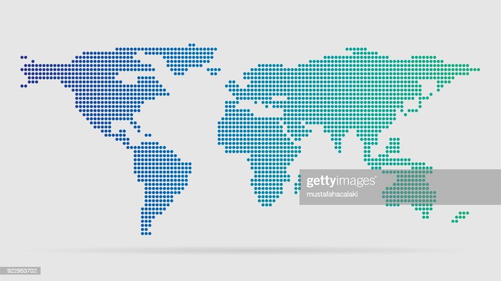 シンプルな世界地図 ベクトルアート getty images
