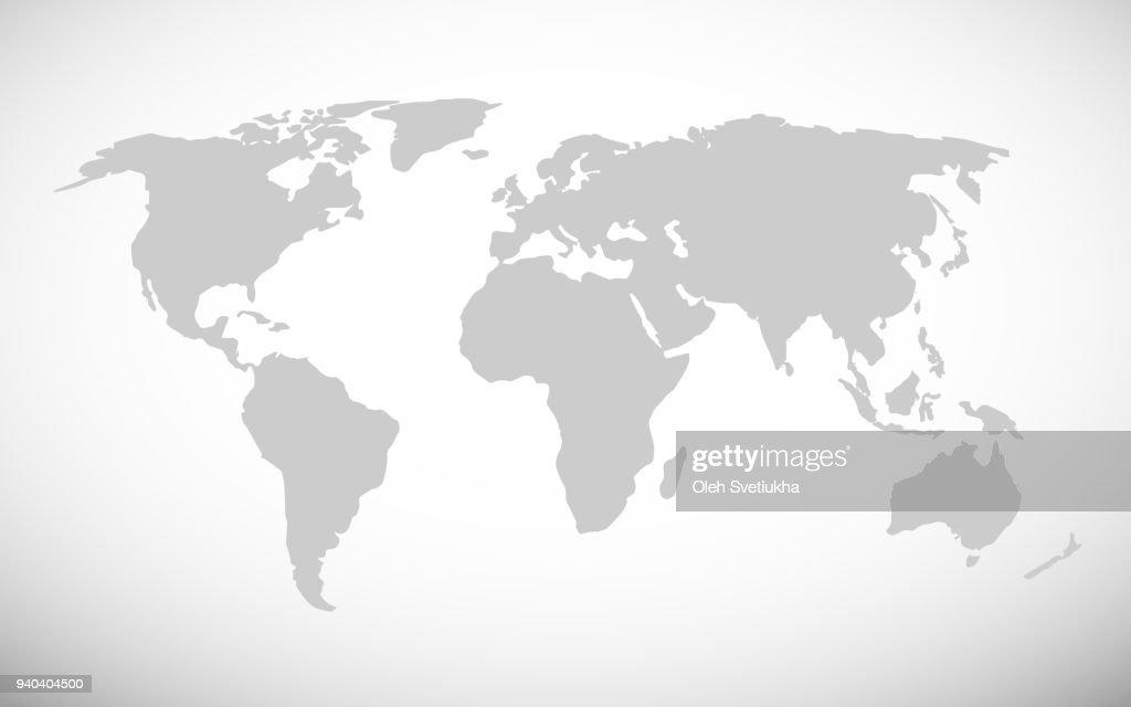 Simple world map vector illustration
