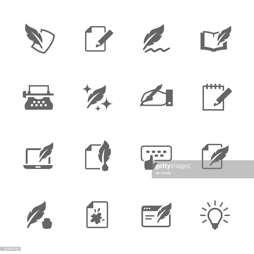 Simple Writing icons