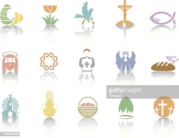 illustrazioni stock, clip art, cartoni animati e icone di tendenza di simplecolor – pasqua - colomba pasqua