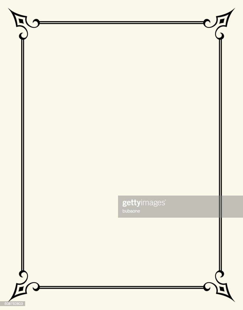 Simpleroyalty Free Vector Frame Design Graphic Vector Art | Getty Images