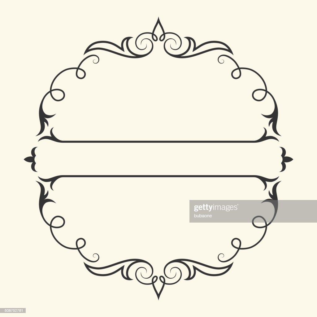 simple frame design. Simpleroyalty Free Vector Frame Design Graphic With Banner : Vector Art Simple Frame Design