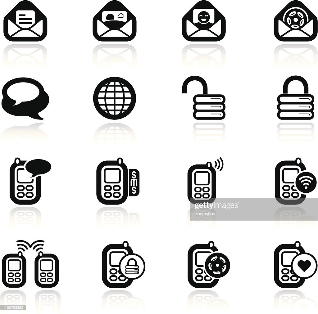 simples sets, cellphone icons