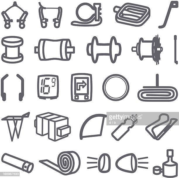 Simplified Bike Accessory Icons