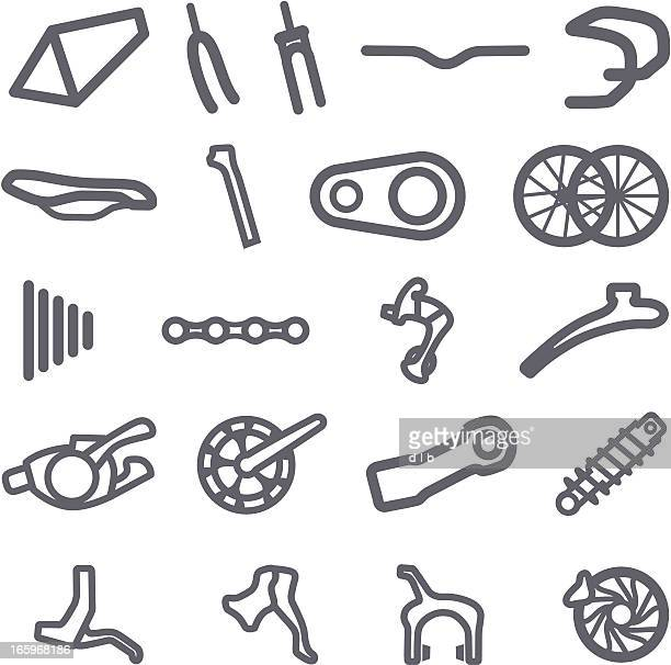 Simplified Bike Part Icons