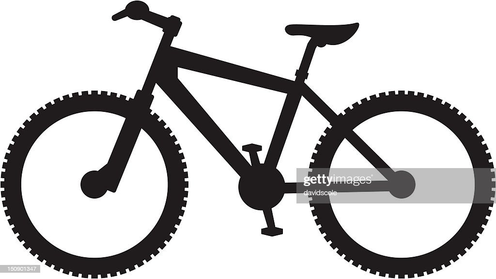Simplified Mountain Bike Silhouette