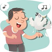sing with bird
