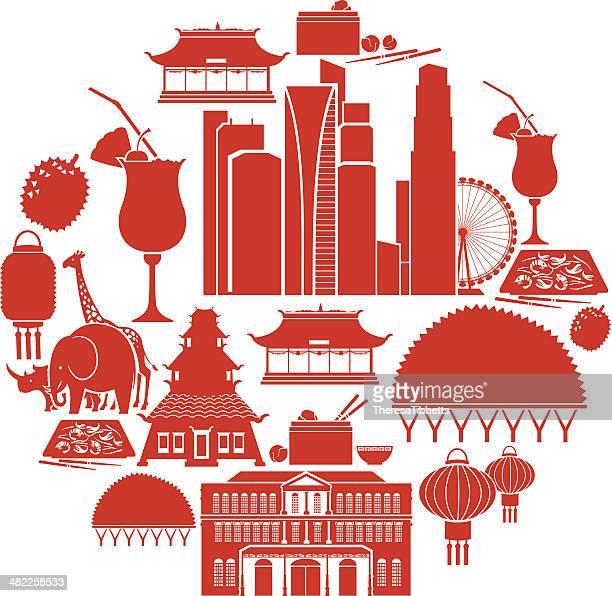 Singapore Icon Set