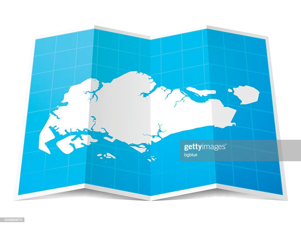 Singapore Map On Infographic Background Vector Art Getty Images