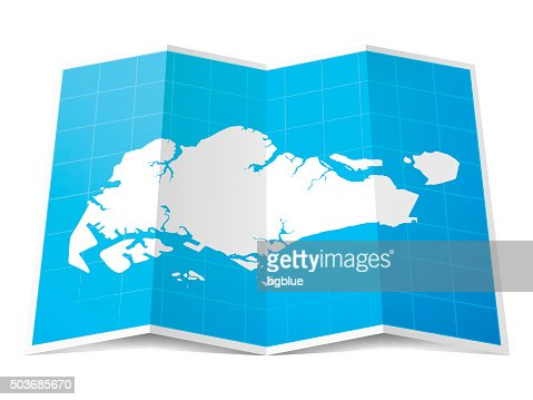 Singapore Map On Infographic Background Vector Art Getty Images - Singapore map vector