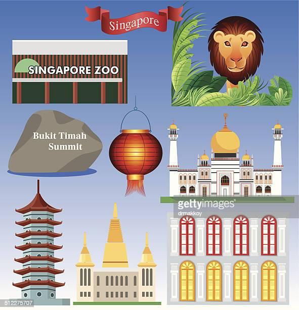 singapure 記号-2 - シンガポール国旗点のイラスト素材/クリップアート素材/マンガ素材/アイコン素材