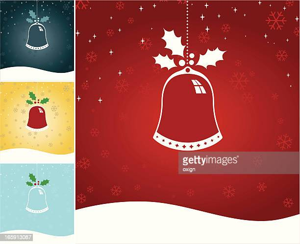 single christmas chime or bell - chinese lantern lily stock illustrations