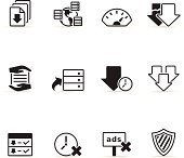 Single Color Icons - File Sharing