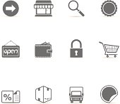 Single Color Icons - More Ecommerce
