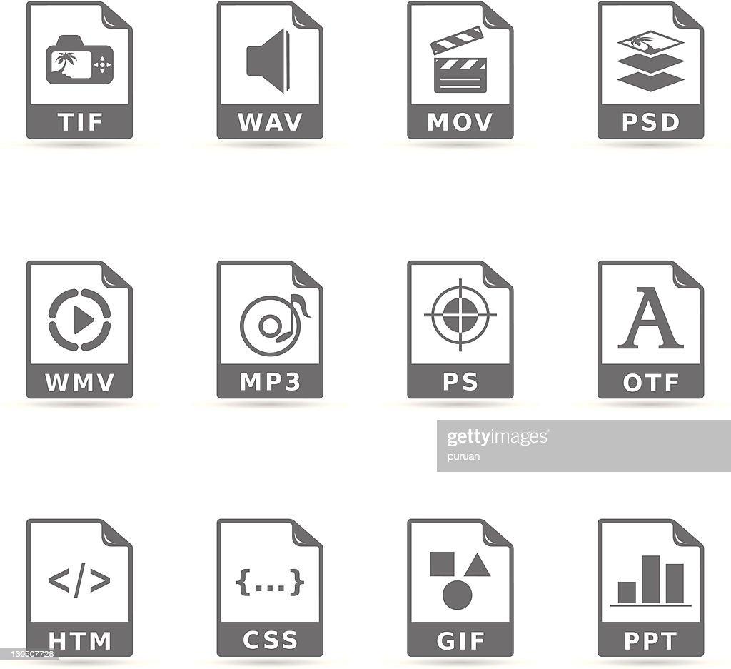 Single Color Icons - More File Formats
