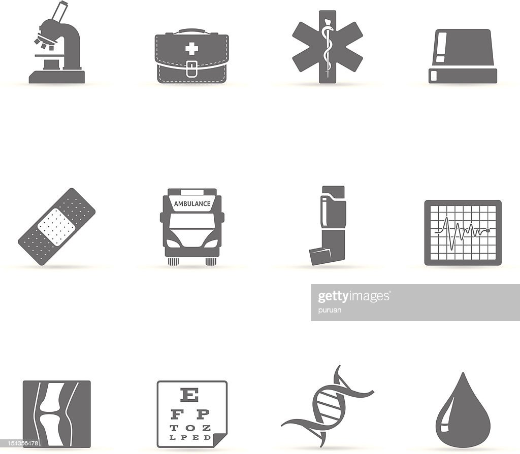 Single Color Icons - More Medical