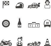 Single Color Icons -  Racing