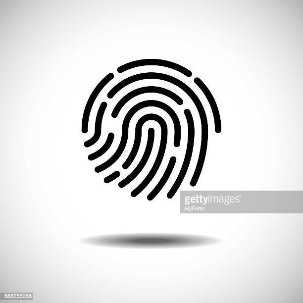 single fingerprint. - kunstdruck stock-grafiken, -clipart, -cartoons und -symbole