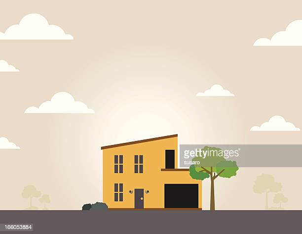 single home - bungalow stock illustrations, clip art, cartoons, & icons