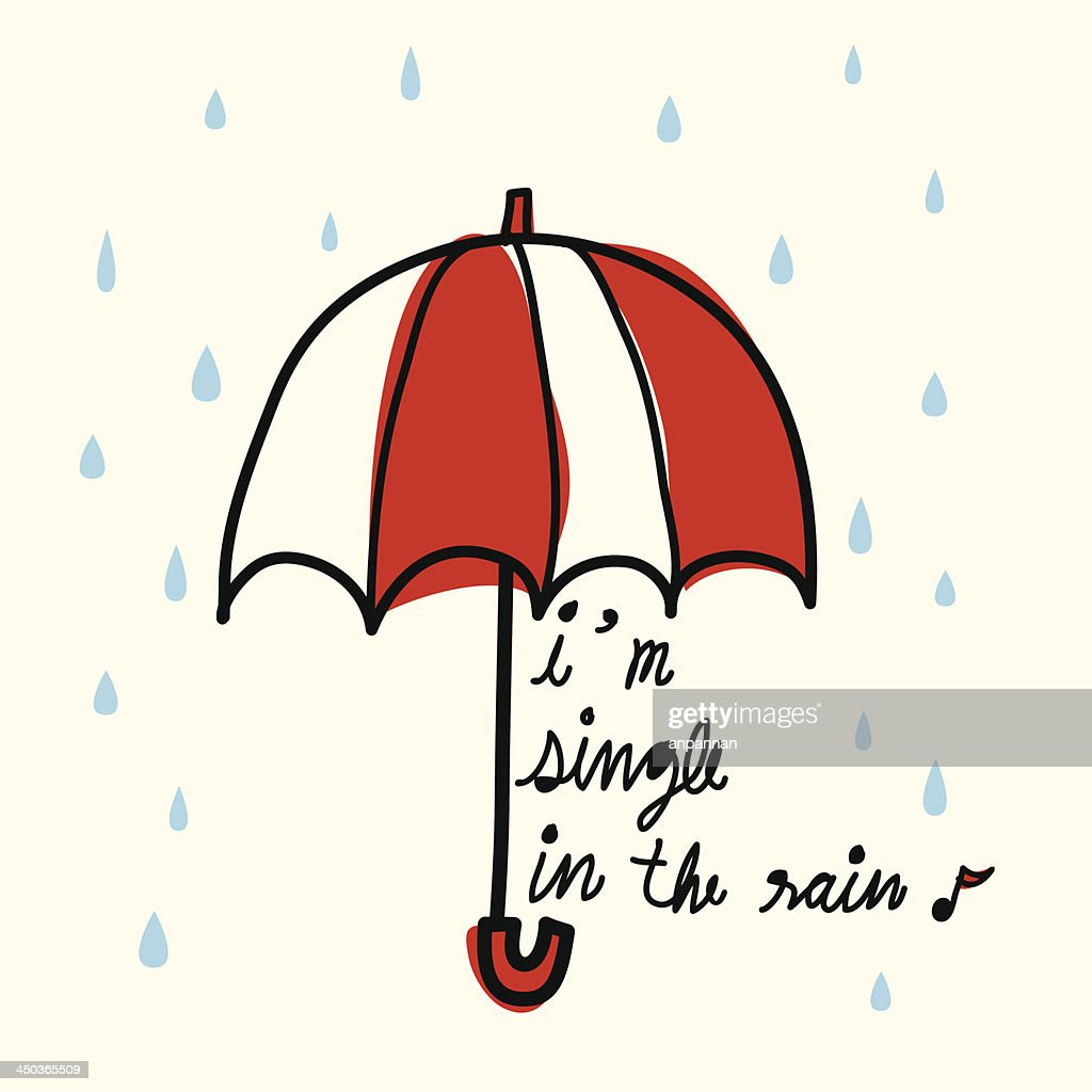 Single in the Rain - Vector File EPS10