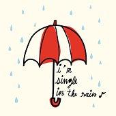 Single in the Rain - Vector File EPS10