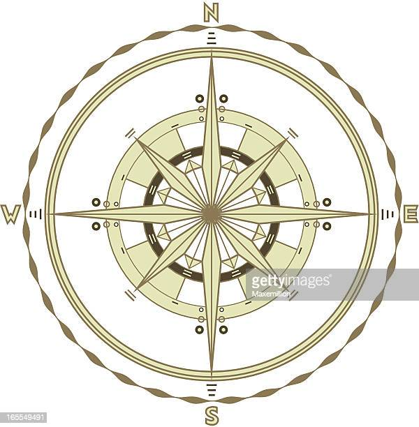 single marine compass - buried stock illustrations, clip art, cartoons, & icons
