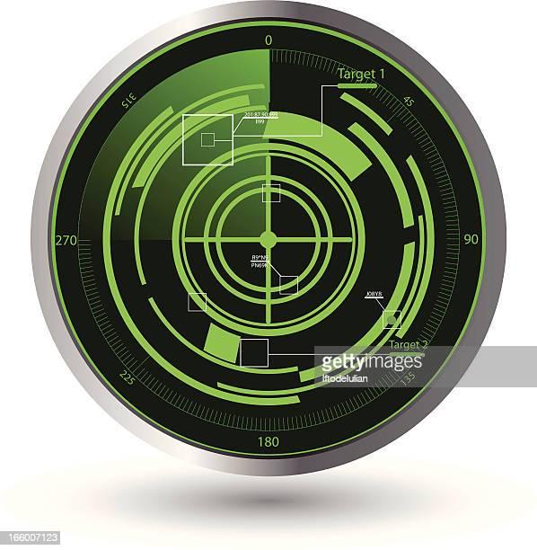 ilustrações de stock, clip art, desenhos animados e ícones de exército único de radar - objetivo militar