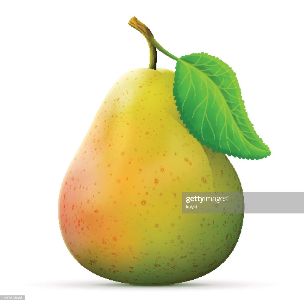 Single pear fruit close up