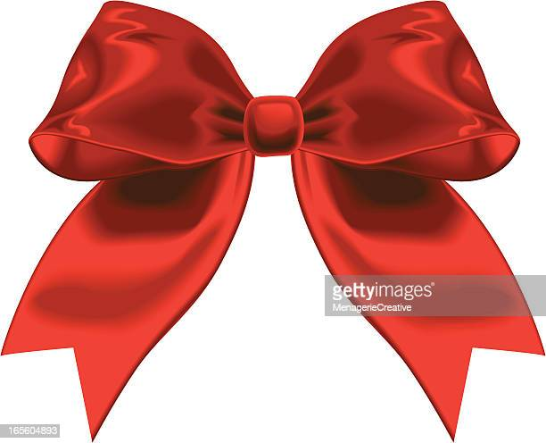single red satin ribbon - aids awareness ribbon stock illustrations
