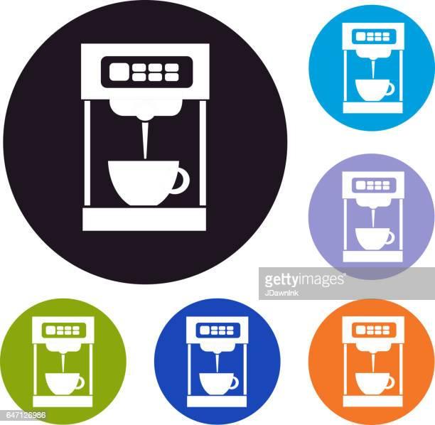 Einzelportionen Kaffee Maker Set von icons