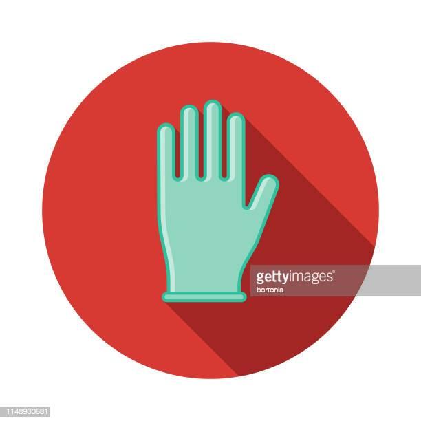 単一の使用使い捨て可能な手袋のアイコン - 手術用グローブ点のイラスト素材/クリップアート素材/マンガ素材/アイコン素材