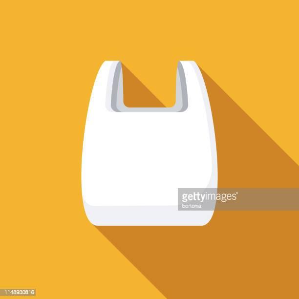 単一の使用のビニール袋のアイコン - ビニール袋点のイラスト素材/クリップアート素材/マンガ素材/アイコン素材