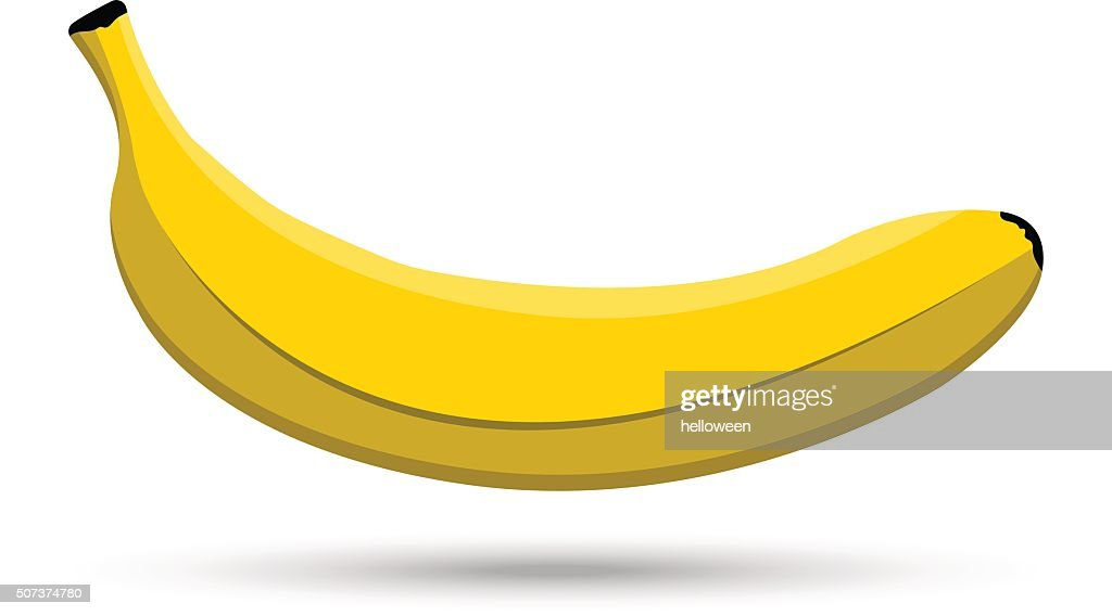 Single vector banana on white background