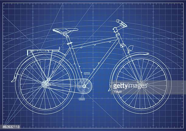 Single-speed City Bicycle Blueprint