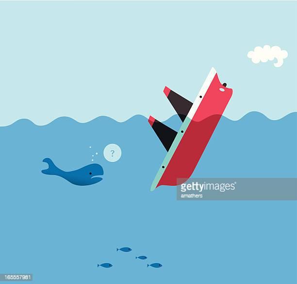 sinker - sinking stock illustrations