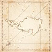 Sint Maarten map in retro vintage style - old textured paper