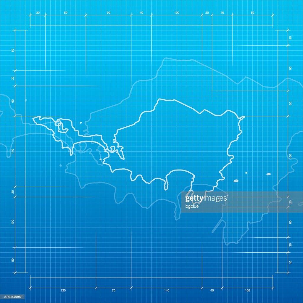 Sint maarten map on blueprint background vector art getty images sint maarten map on blueprint background vector art malvernweather Images