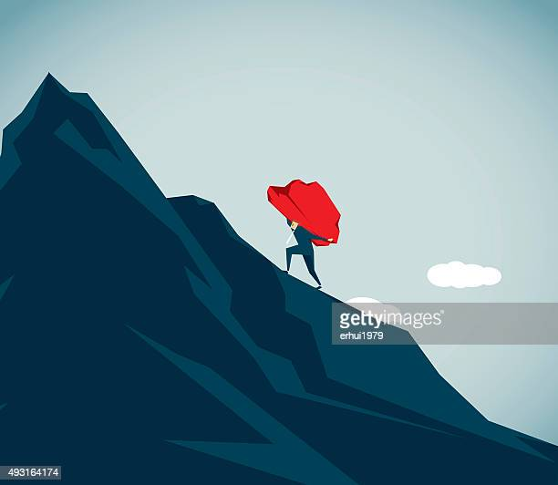 sisyphus - struggle stock illustrations