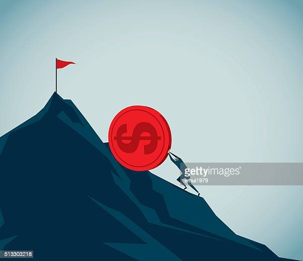 sisyphus - steep stock illustrations, clip art, cartoons, & icons