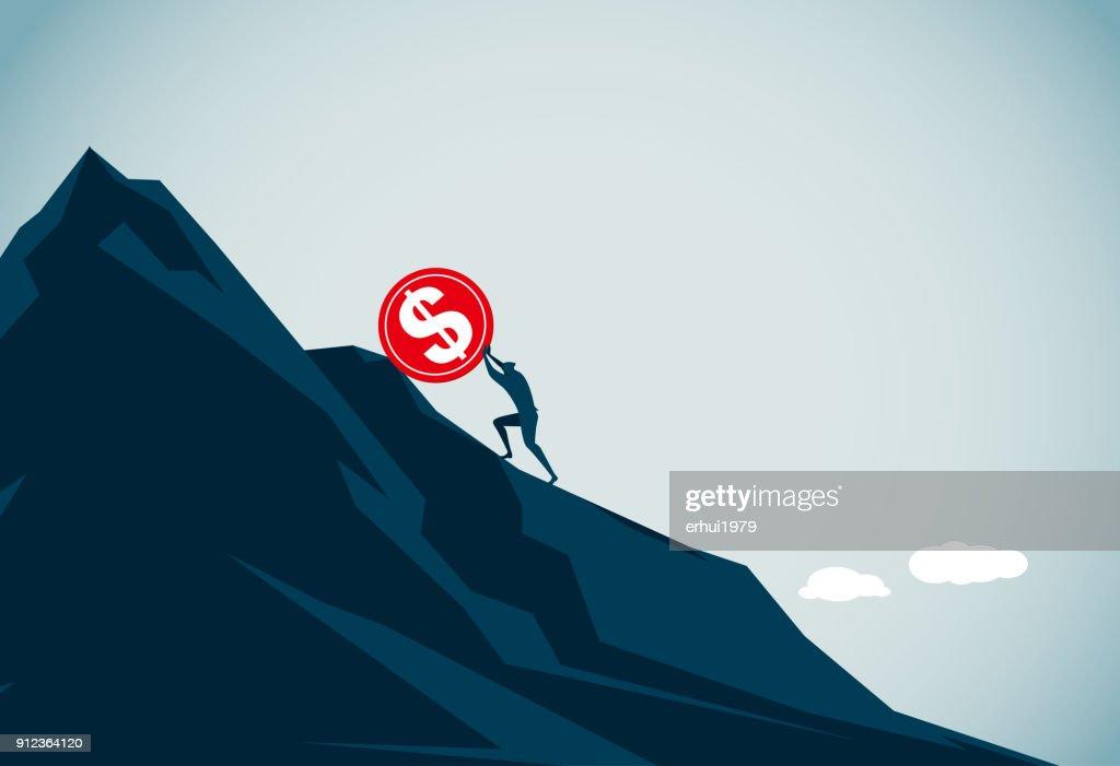 sisyphus : stock illustration