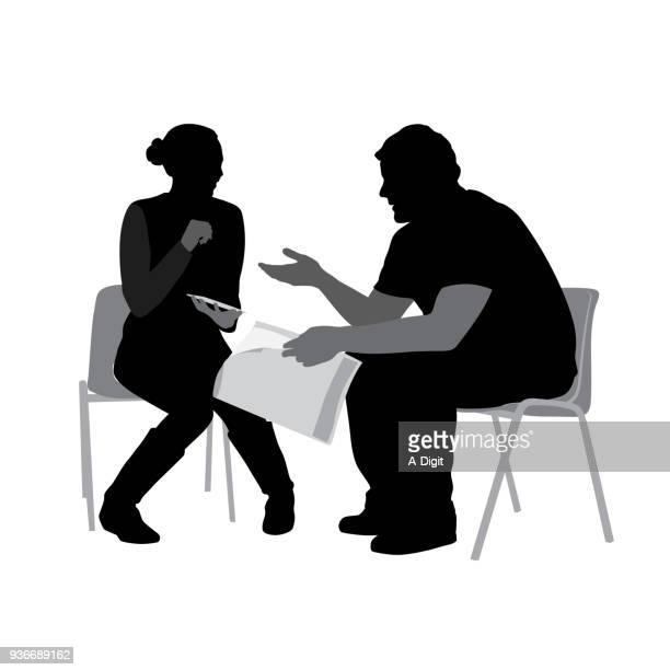 ilustraciones, imágenes clip art, dibujos animados e iconos de stock de sit y psicoterapia - pareja
