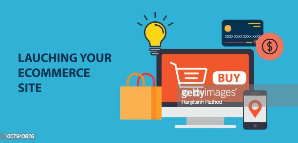 lauching your ecommerce site.jpg - launch event stock illustrations