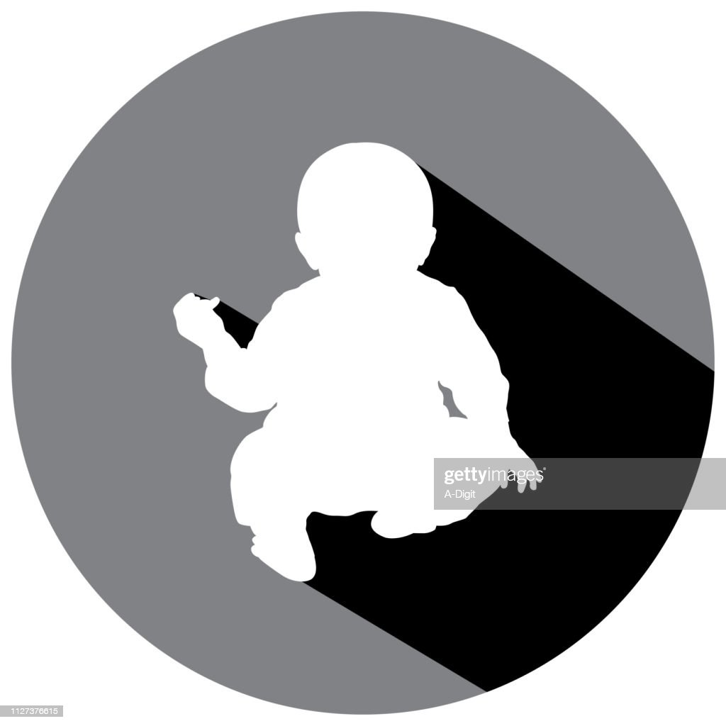 Sitting Baby Shadow Icon