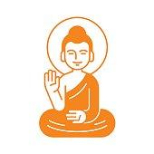 Sitting Buddha illustration