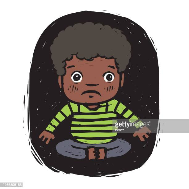 sitting child - baby boys stock illustrations