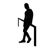 sitting man silhouette
