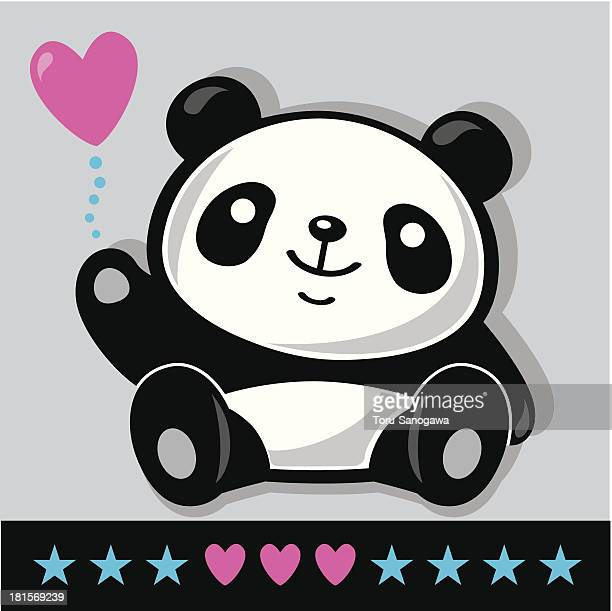 Sitting Panda with heart