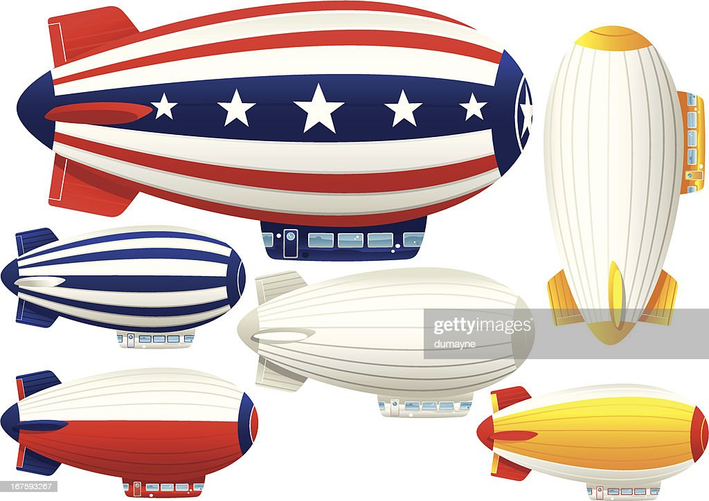 Six assorted blimp airships