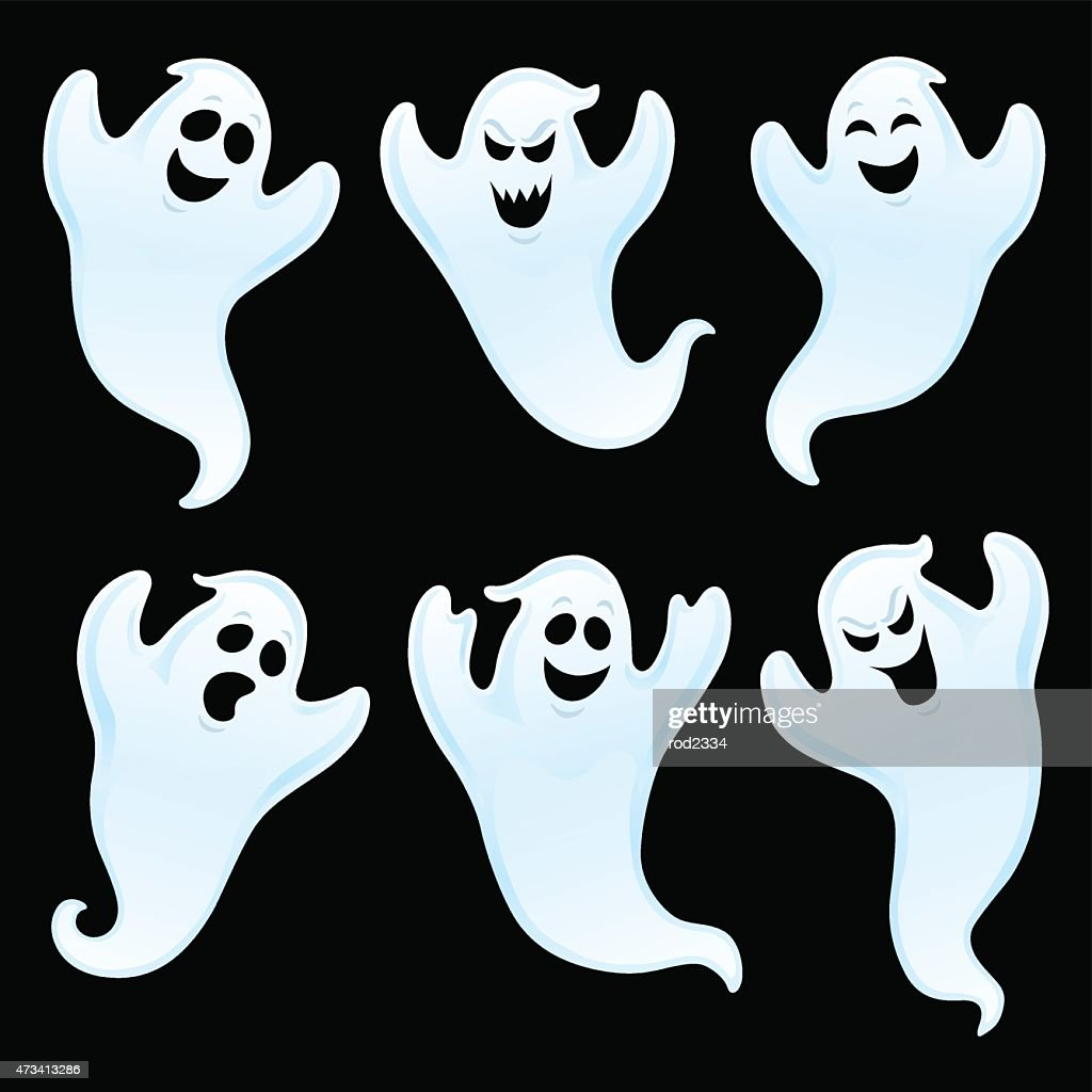 Six Assorted Ghost Characters